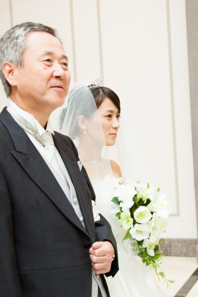 チャペル 父と娘