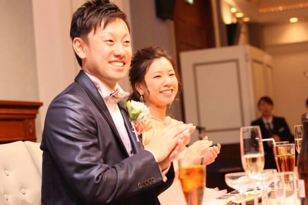 新潟市結婚式場 余興 感謝 カラードレス