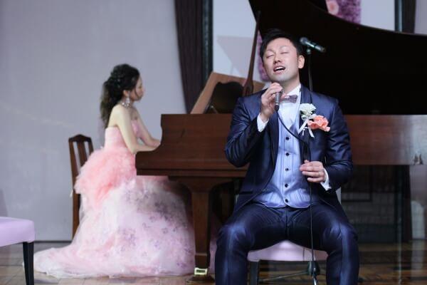 新潟市結婚式場 結び 感謝の演奏 カラードレス