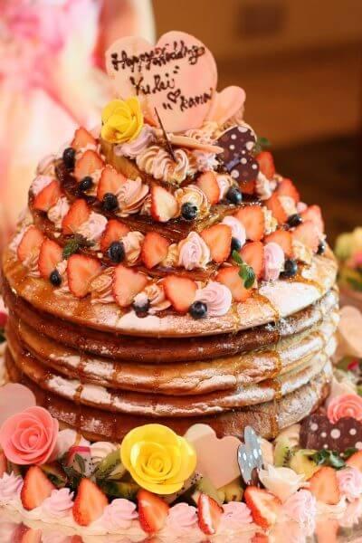 新潟市結婚式場 ケーキカット 演出 ホットケーキカット 大好物
