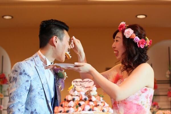 新潟市結婚式場 ケーキカット 演出 ホットケーキカット 大好物 ファーストバイト