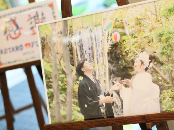 新潟市結婚式場 和婚 色打掛 紋服 ウェルカムグッズ 前撮りフォト