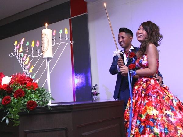新潟市結婚式場 カラードレス キャンドルサービス 演出