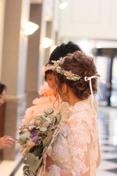 新潟市 結婚式場 デュオ 演出 花 ブーケ ウェルカムグッズ