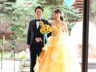 新潟市結婚式場 ブライダルステージデュオ ガーデン入場