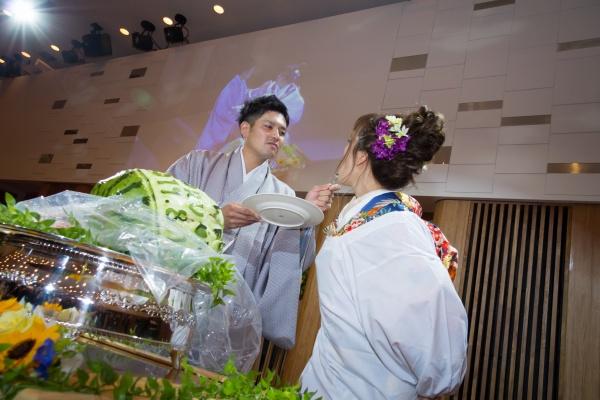 新潟市結婚式場 ブライダルステージデュオグランシャリオ ファーストバイト スイカ