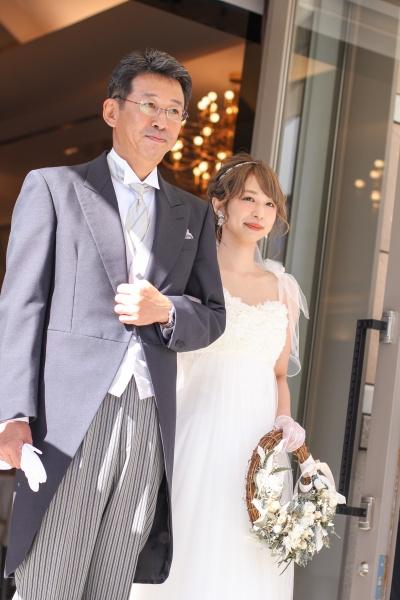 新潟市結婚式場ブライダルステージデュオ ガーデン 入場