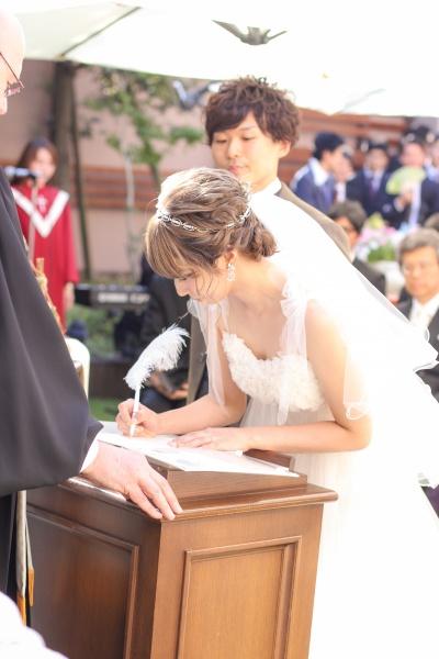 新潟市結婚式場ブライダルステージデュオ 新郎新婦 ガーデン