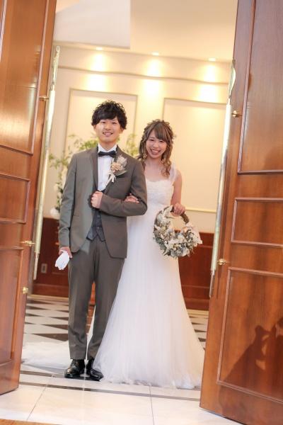 新潟市結婚式場ブライダルステージデュオ 新郎新婦 入場