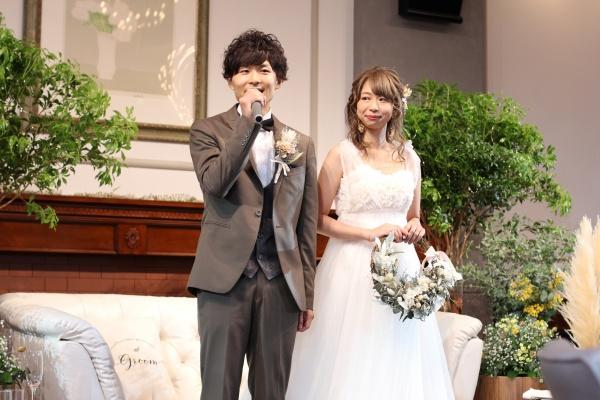 新潟市結婚式場ブライダルステージデュオ 新郎新婦 ウェルカムスピーチ