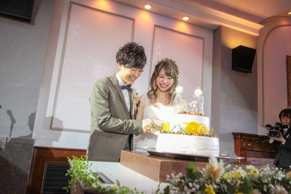 新潟市結婚式場ブライダルステージデュオ ウェディングケーキ 入刀
