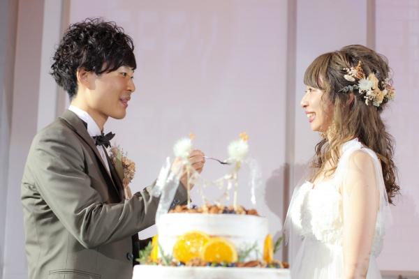 新潟市結婚式場ブライダルステージデュオ ウェディングケーキ ファーストバイト