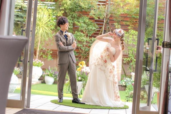 新潟市結婚式場ブライダルステージデュオ お色直し 入場 ガーデン