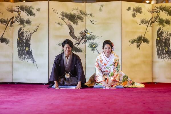 新潟市結婚式場ブライダルステージデュオ 和装 三社神社 神前式