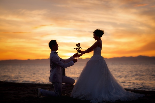 新潟市結婚式場 ブライダルステージデュオ 海 撮影