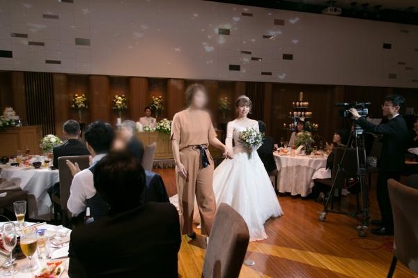 新潟市結婚式場ブライダルステージデュオ エスコート退場