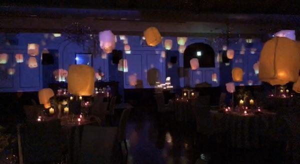 新潟市結婚式場ブライダルステージデュオ パーティー会場 ベルカント 大人かわいい プロジェクションマッピング ランタン