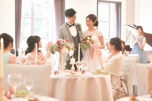 新潟市結婚式場ブライダルステージデュオ パーティー会場 ベルカント 大人かわいい