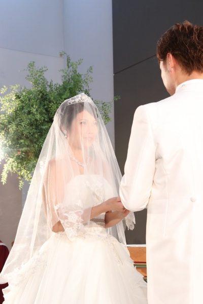 新潟市結婚式場ブライダルステージデュオ チャペル 指輪交換