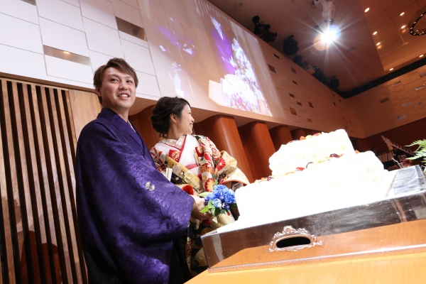 新潟市結婚式場ブライダルステージデュオ ケーキ入刀 ウェディングケーキ
