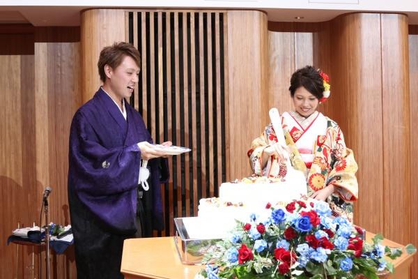 新潟市結婚式場ブライダルステージデュオ ファーストバイト ウェディングケーキ