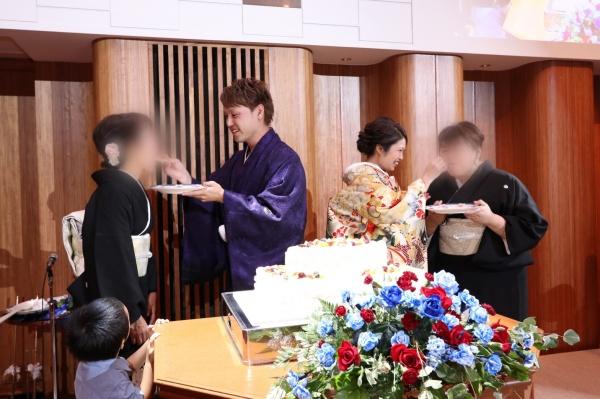 新潟市結婚式場ブライダルステージデュオ ウェディングケーキ サンクスバイト