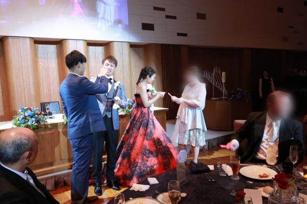 新潟市結婚式場ブライダルステージデュオ ドレス色当て ゲーム