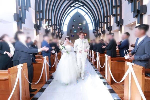新潟市結婚式場ブライダルステージデュオ チャペル フラワーシャワー