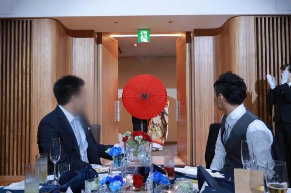 新潟市結婚式場ブライダルステージデュオ 入場 番傘 和装