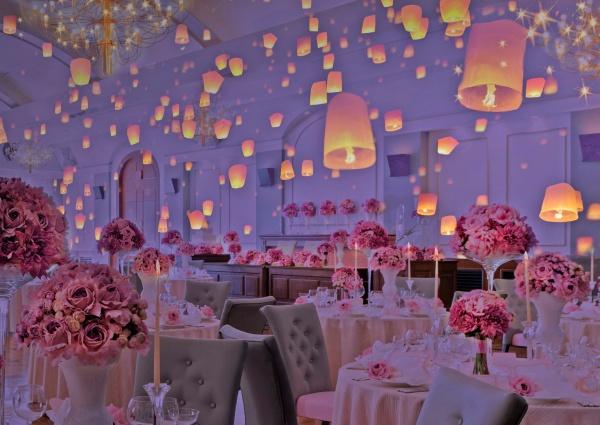 幻想的でとっても素敵❤プロジェクションマッピングを結婚式に取り入れませんか?