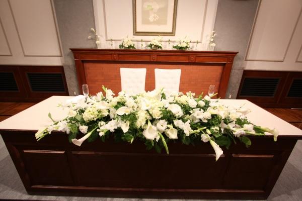 新潟市結婚式場ブライダルステージデュオ テーブル装花