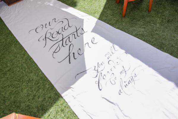 新潟市結婚式場ブライダルステージデュオ ガーデン バージンロード