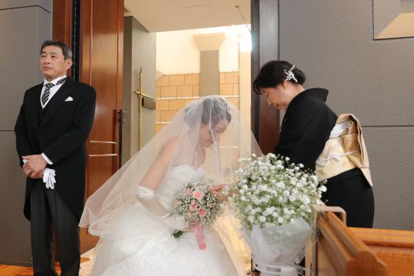 新潟市結婚式場ブライダルステージデュオ 新婦 チャペル ベールダウン