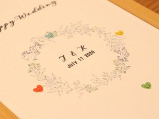 新潟市結婚式場ブライダルステージデュオ ウェルカムグッズ ウェディングツリー