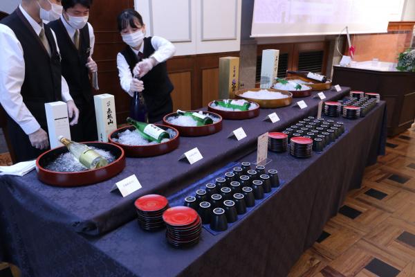新潟市結婚式場ブライダルステージデュオ 日本酒ビュッフェ