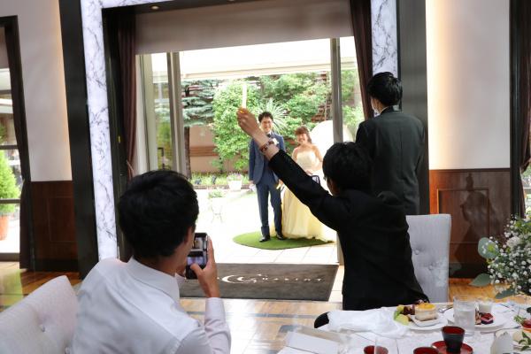 新潟市結婚式場ブライダルステージデュオ 入場 ガーデン