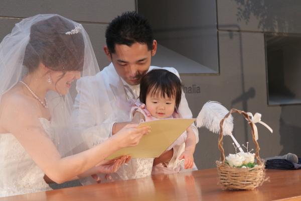 新潟市結婚式場ブライダルステージデュオ チャペル 人前式 パパママウェディング