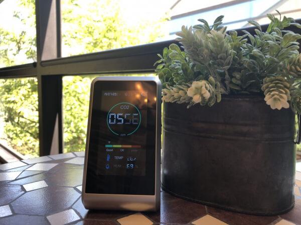 """《感染症対策*新着情報》 """"安全安心""""の結婚式『二酸化炭素濃度測定器』を設置しております。"""